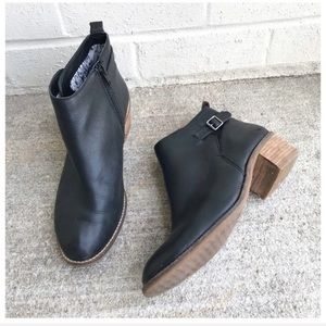 Lucky Brand Harpie Black Leather Ankle Booties